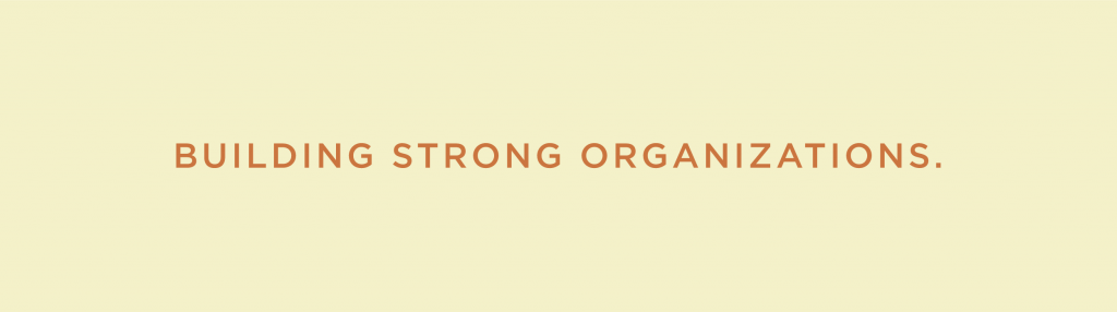 Building Strong Organizations