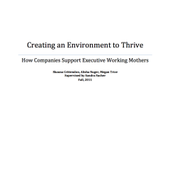 Creating an Environment to Thrive